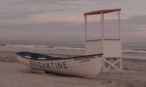 Life Saving Boat on Brigantine Beach
