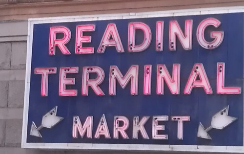 Reading Terminal Market sign in Philadelphia