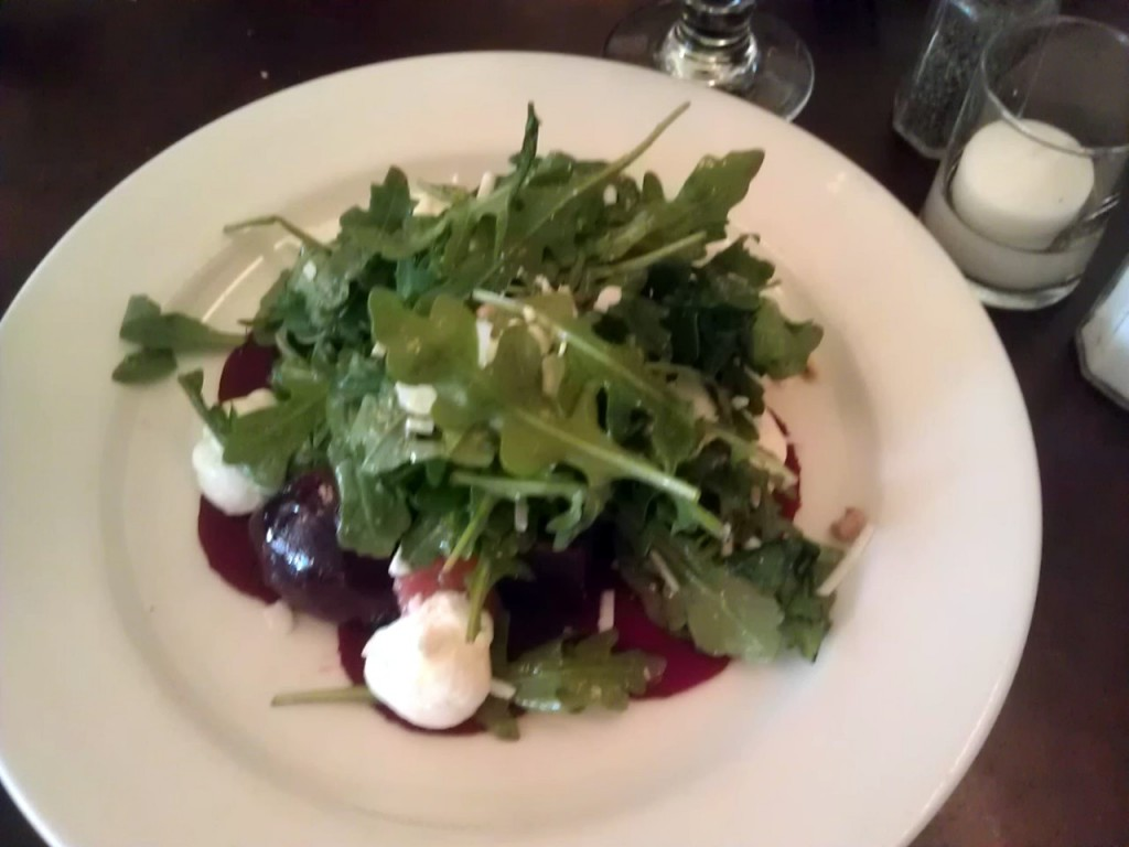 Beet salad at Parc Brasserie, Rittenhouse Square, Philadelphia