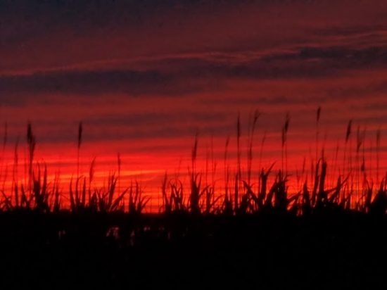 after the sunset in Brigantine, New Jersey.