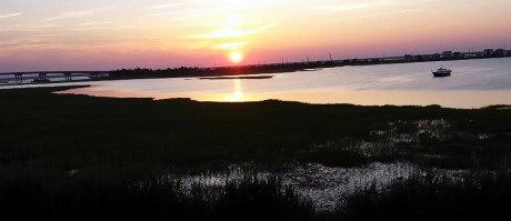 Sunset Over Saint George's Thorofare, Brigantine, New Jersey