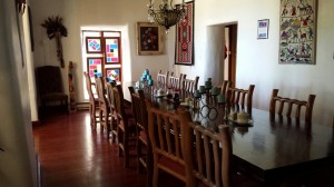 Dining Room, Inn of the Turquoise Bear, Santa Fe, New Mexico