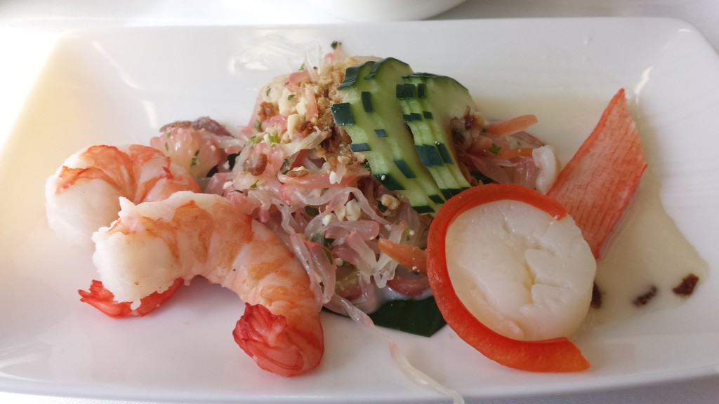 prawn and scallop salad
