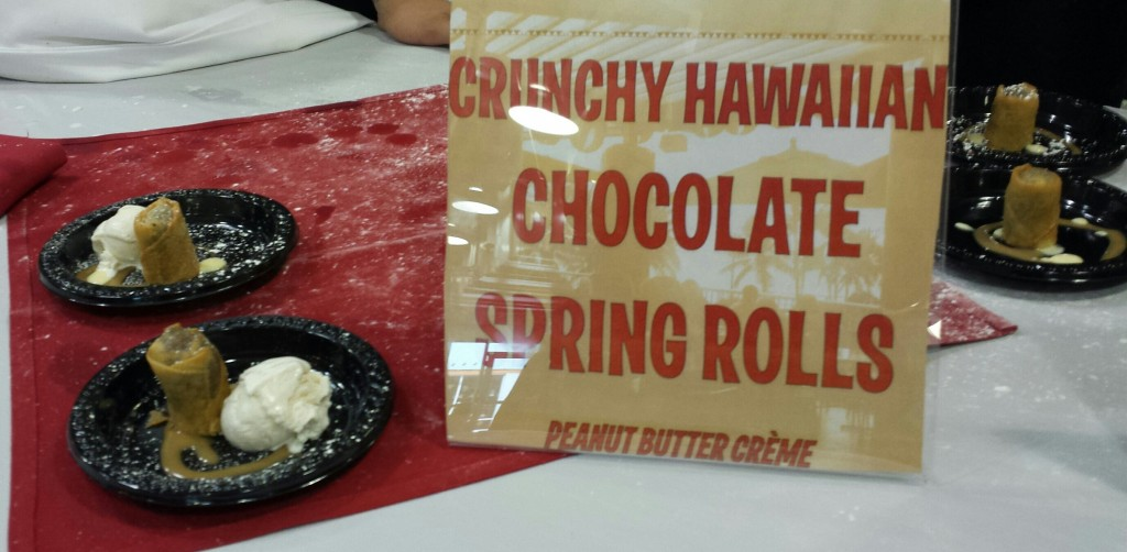 Chocolate filled spring rolls, Hawaii Chocolate Festival