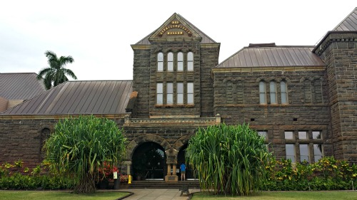 The main building of the Bernice Pauhi Bishop Museum in Honolulu, Hawaii, containing Hawaii Hall and Pacific Hall.