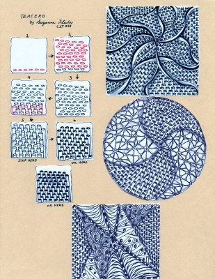 Zentangle Tercero Tangle Deconstruction