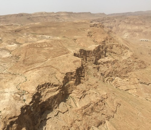 Masada in the Judean Desert south of Jerusalem, Israel