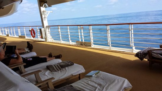 Reading aboard a cruise ship
