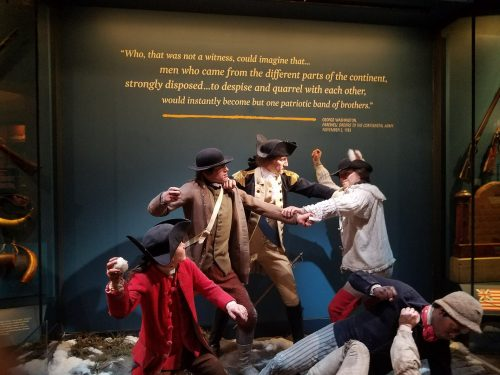 Diorama from the Museum of the American Revolution in Philadelphia