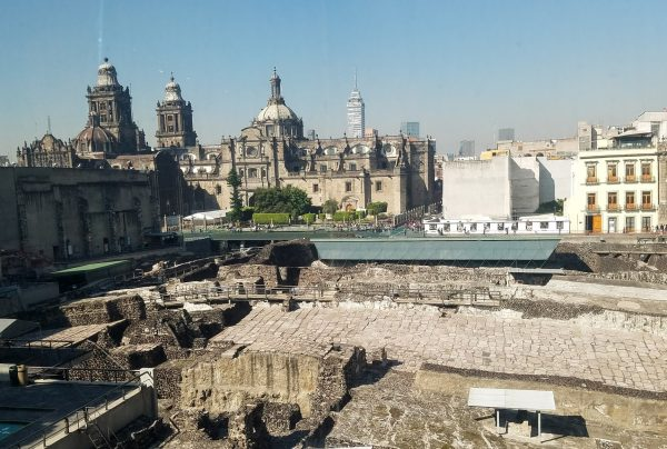 Templo Mayor site Mexico City next to the Metropolitan Cathedral