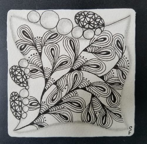 Zentangle tangle Dinoflor