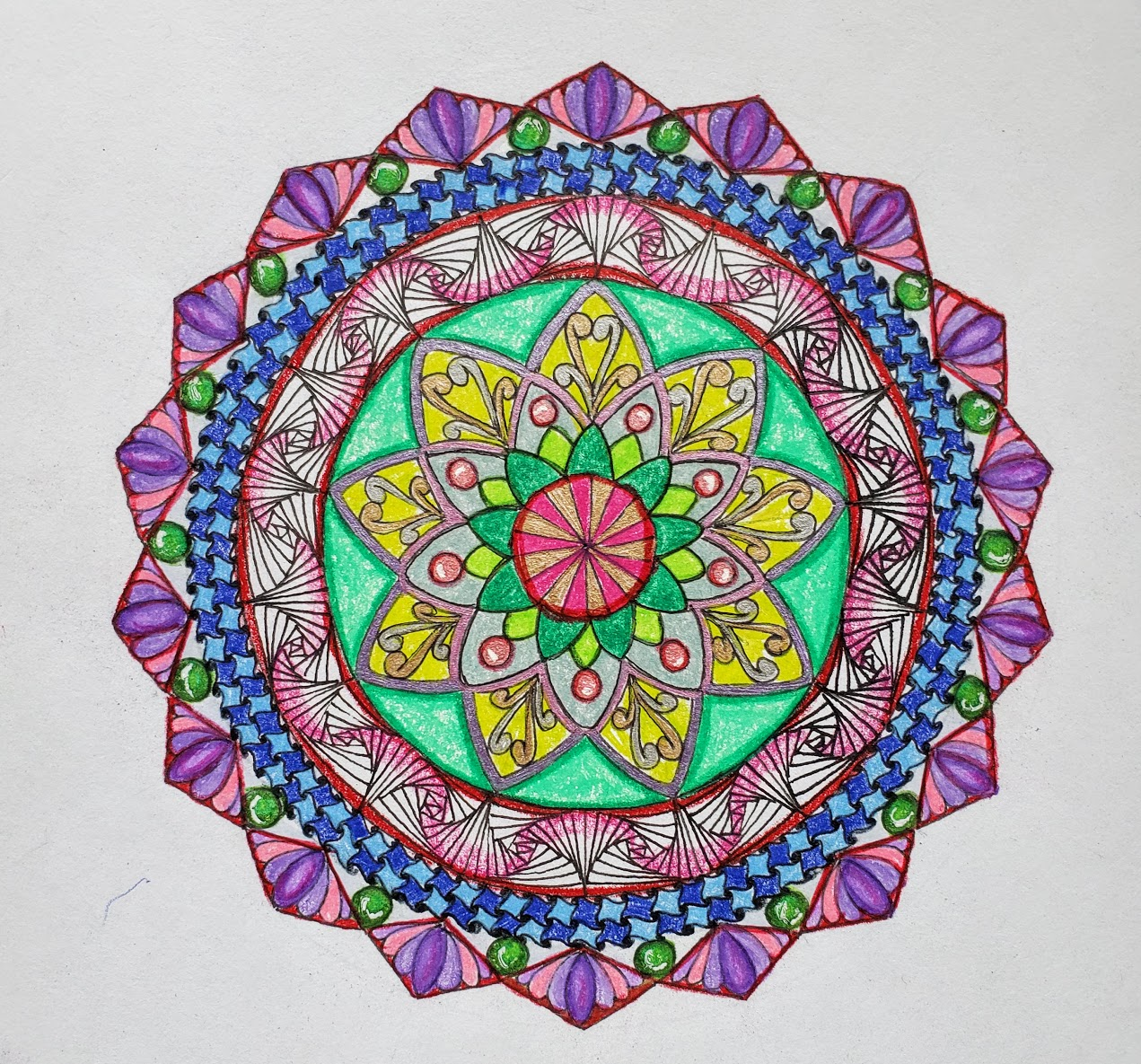 Hump Day Zentangle Challenge, Mandala Zendala